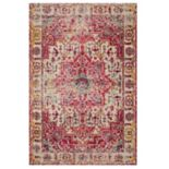 Loloi II Nadia Distressed Colorful Medallion Rug