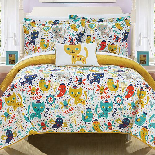 Trixie Cute Critters Quilt Set