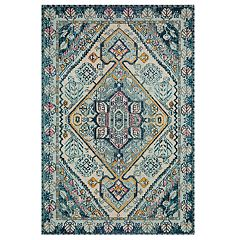 Loloi II Nadia Geometric Feather Medallion Rug