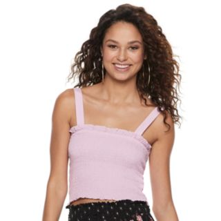 Juniors' Mudd® Smocked Tank