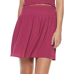Juniors' Mudd® Smocked Skirt