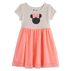 Disney's Minnie Mouse Toddler Girl Glittery Graphic Tulle Dress by Jumping Beans®