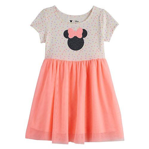 c19419c1e5480 Disney's Minnie Mouse Toddler Girl Glittery Graphic Tulle Dress by Jumping  Beans®