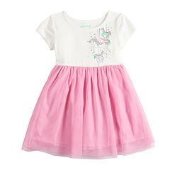 Toddler Girl Jumping Beans Printed Tulle Dress