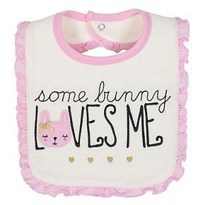 Baby Girl Just Born 3-pk. Bunny Bibs
