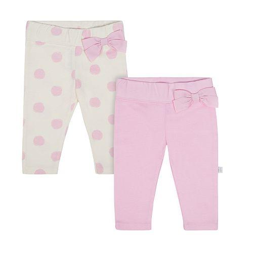 Baby Girl Just Born Organic 2-pack Leggings