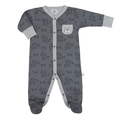 Baby Boy Just Born Organic Fox Print Sleep & Play