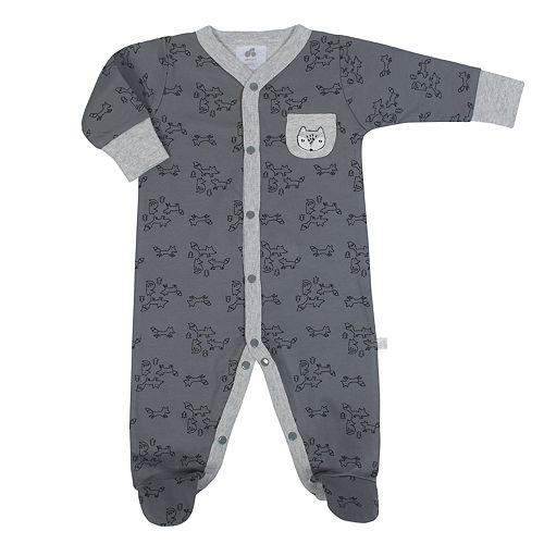 Baby Boy Just Born Organic Fox Print Sleep & Play