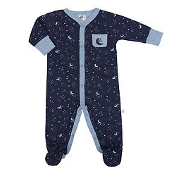 Baby Boy Just Born Organic Moon & Stars Sleep & Play