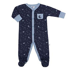 Baby Boy Just Born Organic Moon & Stars Sleep & Play