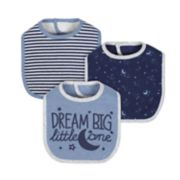 Baby Boy Just Born 3-pack Space-Theme Bibs