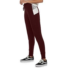 Juniors' Pink Republic Velour Jogger Pants