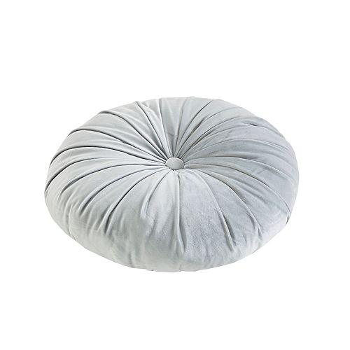Intelligent Design Round Tufted Velvet Throw Pillow