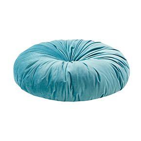 Intelligent Design Round Tufted Velvet Floor Pillow