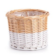 SONOMA Goods for Life™ Small Wicker Basket Indoor / Outdoor Planter