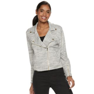Women's Juicy Couture Knit Moto Jacket