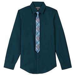 Boys 8-20 Van Heusen Iridescent Shirt & Tie Set