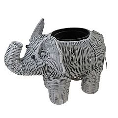 SONOMA Goods for Life™ Indoor / Outdoor Plastic Wicker Elephant Planter