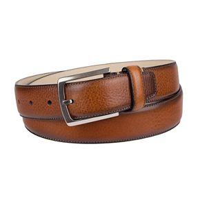 Men's Croft & Barrow® Feather-Edge Leather Belt