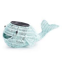 SONOMA Goods for Life™ Indoor / Outdoor Plastic Wicker Whale Planter