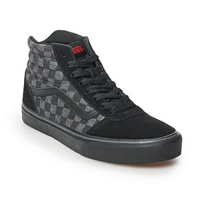 200078fe590591 Vans Ward Hi Zip Girls  Checkered Skate Shoes. Regular