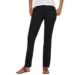 2b0af26ae9190 Petite SONOMA Goods for Life™ Straight-Leg Mid-Rise Sateen Pants