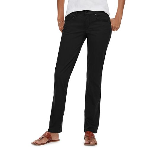 Petite SONOMA Goods for Life™ Straight-Leg Mid-Rise Sateen Pants