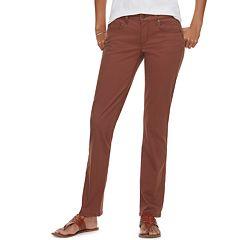 2629601cea5 Petite SONOMA Goods for Life™ Straight-Leg Mid-Rise Sateen Pants