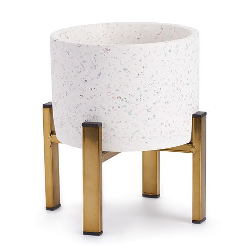 SONOMA Goods for Life™ Indoor / Outdoor Speckled Terrazzo Planter
