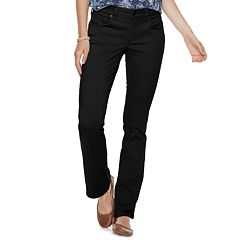 Petite SONOMA Goods for Life™ Midrise Sateen Bootcut Pants