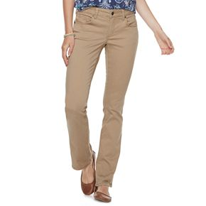 Petite SONOMA Goods for Life? Midrise Sateen Bootcut Pants
