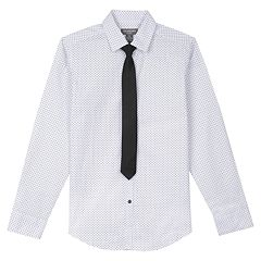 Boys 8-20 Van Heusen Triangle Shirt & Tie Set