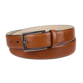 Men's Croft & Barrow® Feather-Edge Leather Casual Belt