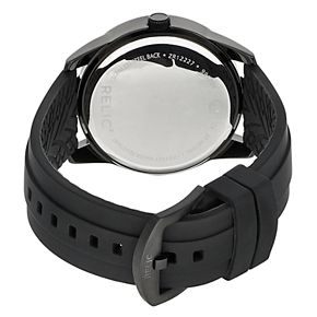 Relic by Fossil Men's Everett Black Silicone Band Watch