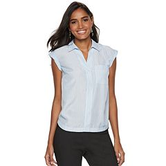 Women's Apt. 9® Collared Button Down Dolman Top
