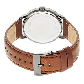Relic by Fossil Men's Jeffrey Leather Watch