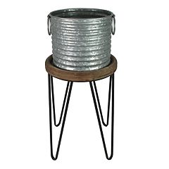 SONOMA Goods for Life™ Indoor / Outdoor Rustic Galvanized Plant Stand