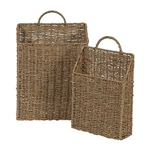 Household Essentials 2-pack Rectangular Wall Baskets