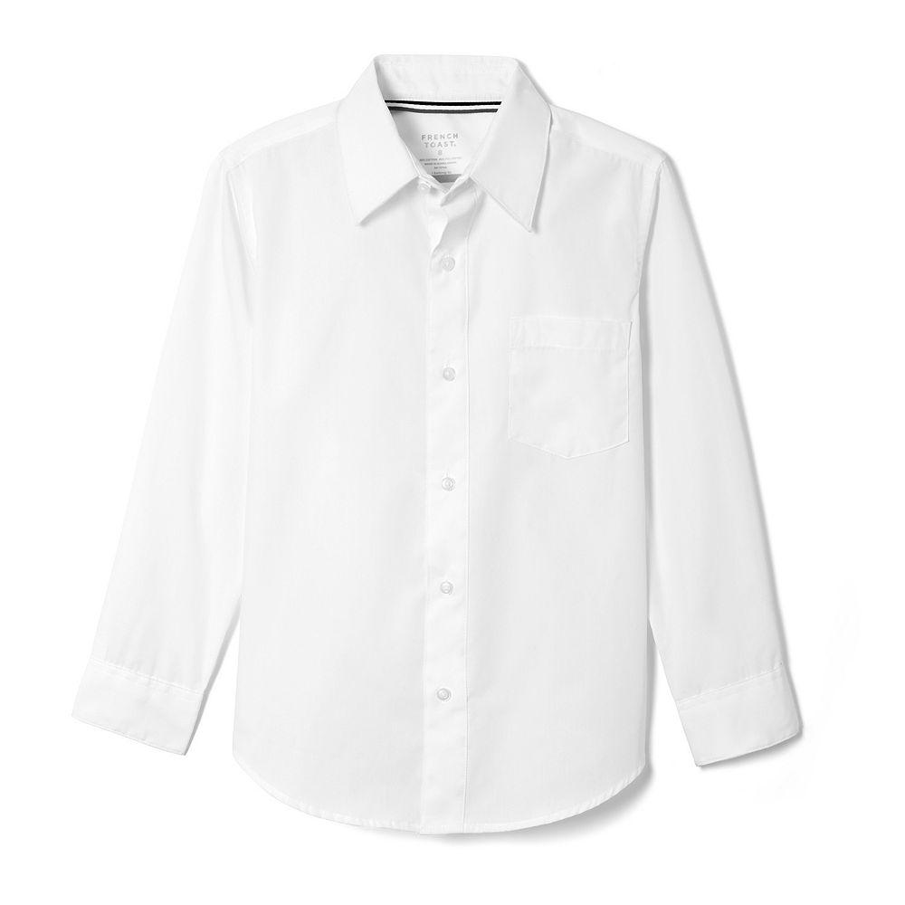 Boys 4-20 & Husky French Toast Long Sleeve Button-Down Dress Shirt