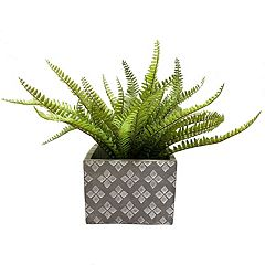SONOMA Goods for Life™ Indoor / Outdoor Square Tile Print Cement Planter