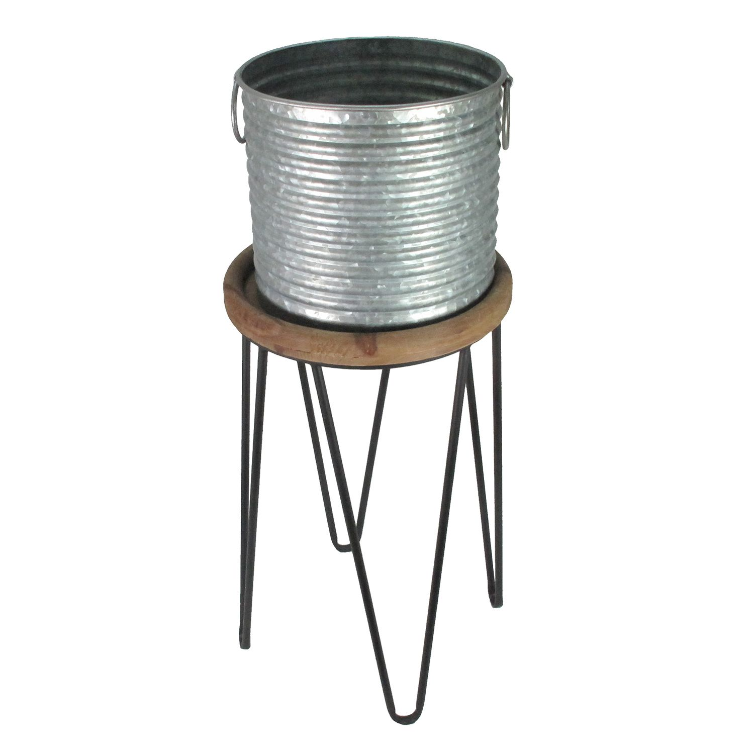 NEW! SONOMA Goods For Life™ Indoor / Outdoor Galvanized Bucket Plant Stand