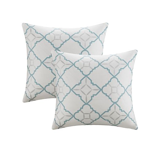 Madison Park Jax 2-pack Geometric Metallic Throw Pillow Set