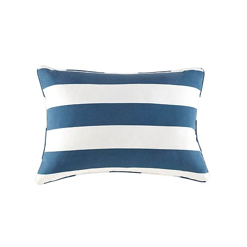 Madison Park Baros Outdoor Striped Oblong Throw Pillow