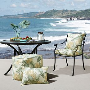 Madison Park Outdoor Palm Print Oblong Throw Pillow