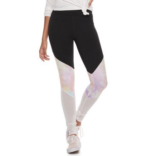 Colorblock Mesh Yoga Leggings