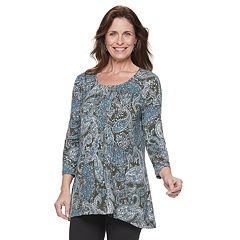 Women's Croft & Barrow® Pleat-Front Tunic