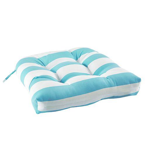 Madison Park Baros Outdoor Striped Seat Cushion