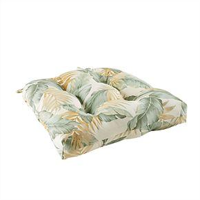 Madison Park Outdoor Palm Print Seat Cushion