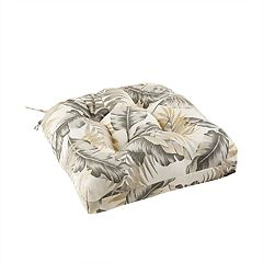 Madison Park Outdoor Palm Print Seat Cushion