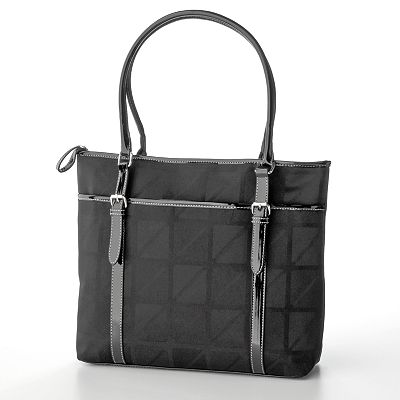 Nine and Co. Janis Megaville Logo Tote